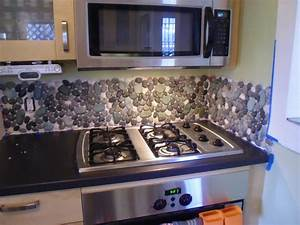 River Rock Backsplash, Give A New and Natural Accent to