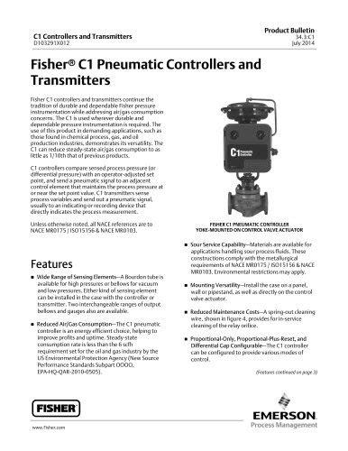 Todos los catálogos y folletos técnicos FISHER REGULATORS