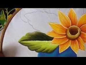 Pintura en tela camino de girasol # 2 con cony YouTube