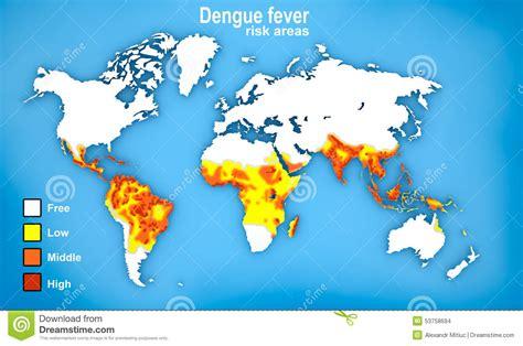 karte der dengue fieber verbreitung stock abbildung