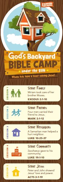 Backyard Bible Club Curriculum by God S Backyard Bible C Theme Chart Children Youth