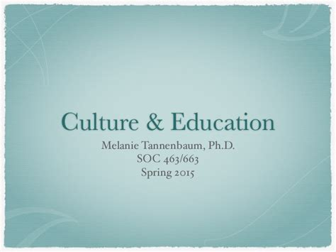 soc  social psych  education culture education