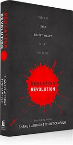 Red letter revolution new book by shane claiborne and for Red letter christian book