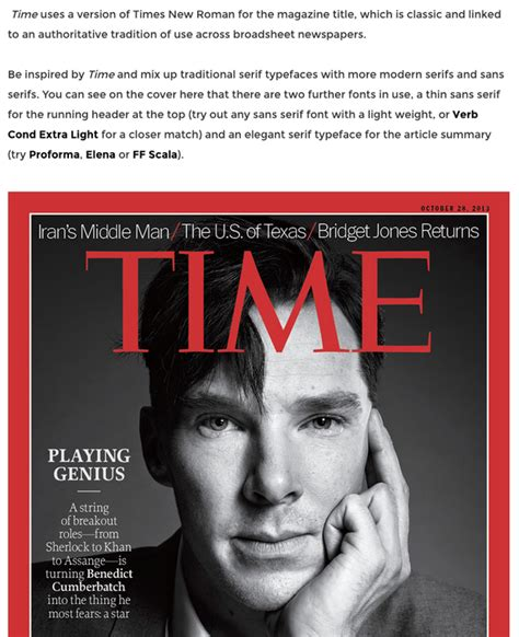five minutes with martin edition magazine what font does magazine use for the title quora