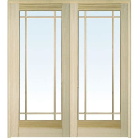 interior doors home depot builder 39 s choice 48 in x 80 in 10 lite clear wood pine