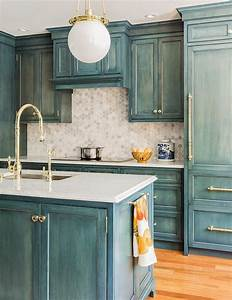 kitchen with marble hex backsplash country kitchen With what kind of paint to use on kitchen cabinets for teal and gold wall art
