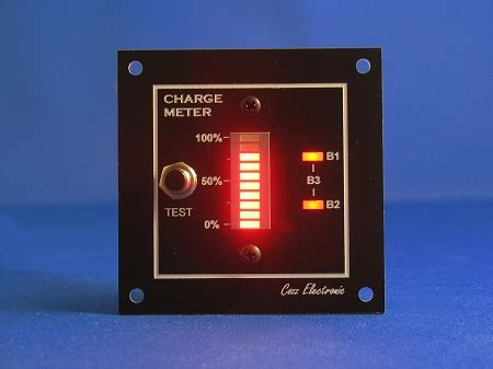 charge meter bar graph voltmeter red simplified