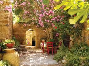 inspiring tuscan courtyards photo mediterranean landscape garden design landscaping