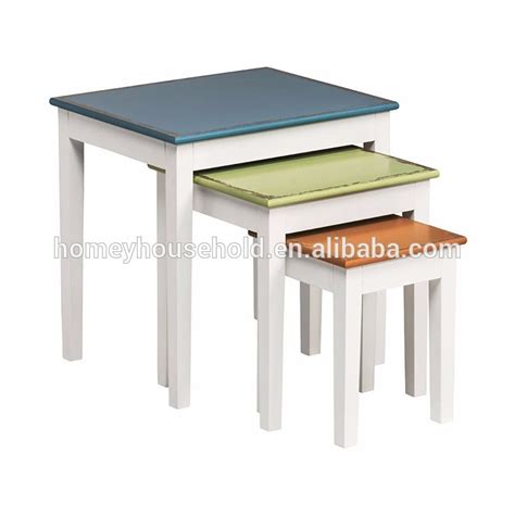 bright colored coffee table colorful wood nesting side table coffee table whole wood