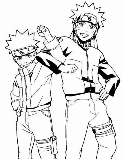 Naruto Coloring Coloriage Manga Printable Desenhos Colorir