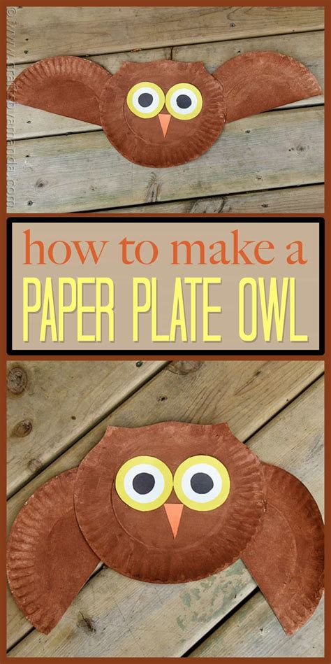 paper plate owl craft make a owl from a paper plate 875 | paper plate owl pin