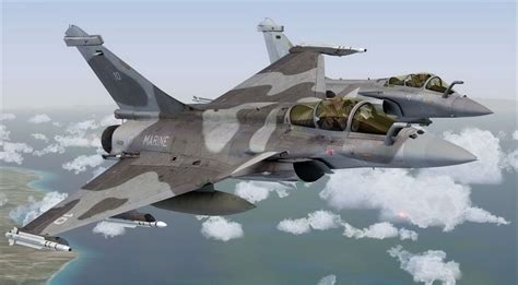 dassault rafale grey camo for fsx