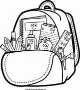 Bookbag Drawing Clipart Backpack Getdrawings sketch template