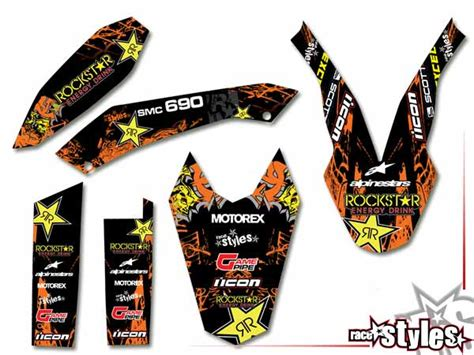 ktm 690 smc r 08 187 rockstar mx 187 03 basic kit