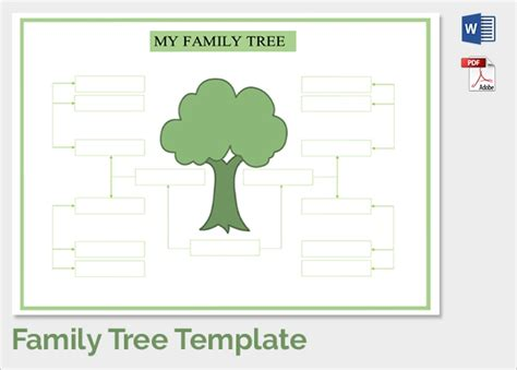 sample family tree chart template  documents
