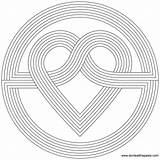 Heart Simple Coloring Knot Rainbow Don Pages Cool Flower Printable Pattern Designs Template Printables Version sketch template