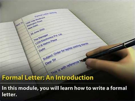class  english formal letter  introduction youtube
