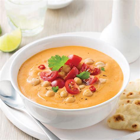 cuisine pois chiche soupe repas aux tomates lentilles et pois chiches
