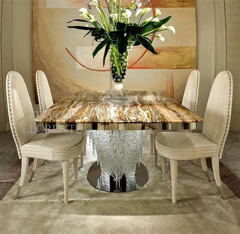 luxury dining table italian murano glass taylor llorente furniture