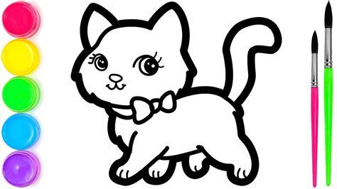 mewarnai gambar kucing