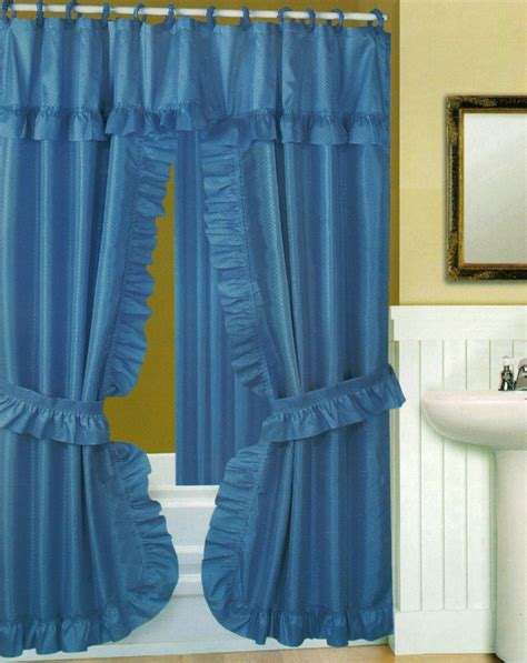 swag shower curtain swag shower curtain with liner set blue 70x72