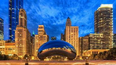 Chicago Gate Cloud Illinois States United Uhd