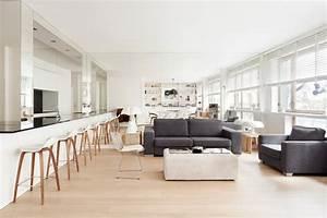 Une piece a vivre contemporaine realisation cda design for Deco cuisine avec chaise sejour contemporaine