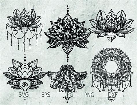 set  mandala mandala drawing mandala svg intricate