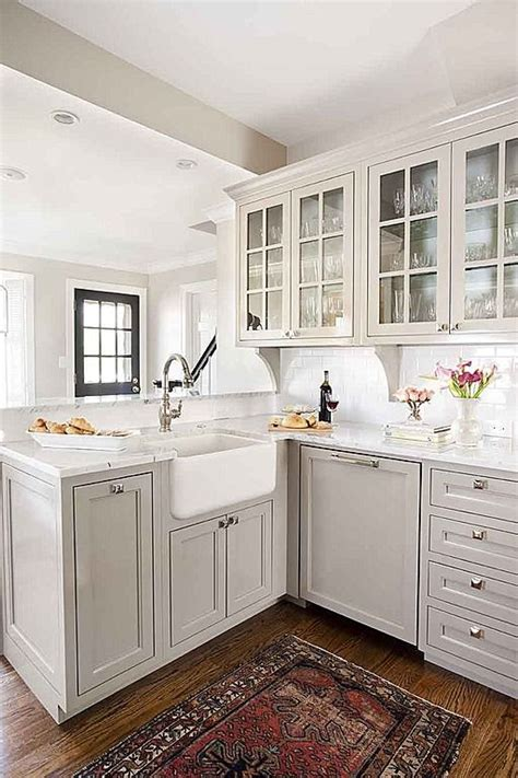 paint the kitchen cabinets marble complex farmhouse crown molding traditional 3957