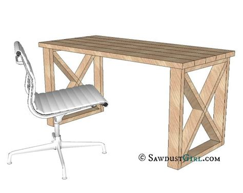 easy to make desk x leg office desk sawdust