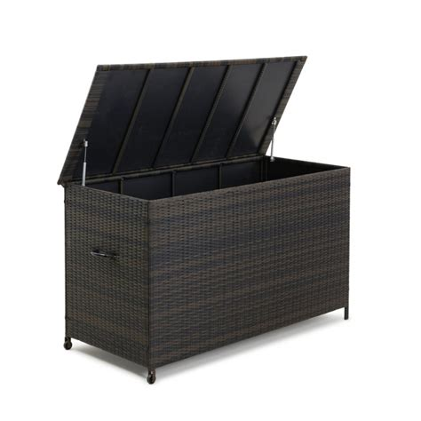 buy maze rattan garden furniture storage box from oak