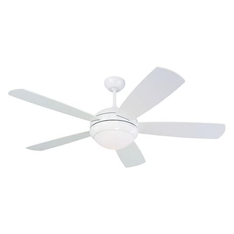 White Ceiling Fans With Lights by Monte Carlo Discus 52 In Indoor White Ceiling Fan With