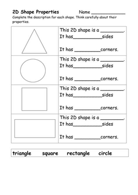 shape properties  jebutler teaching resources tes