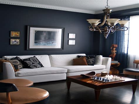 gray  navy blue living room home furniture decoration