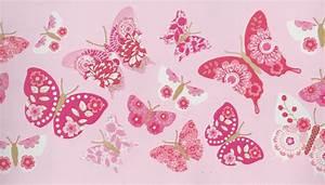 Tapeten Bordüre Kinderzimmer : girls only kinderzimmer bord re schmetterlinge rosa gln ~ Eleganceandgraceweddings.com Haus und Dekorationen