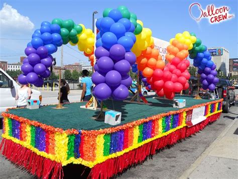 Aids Task Force Arch, #float #arch #balloon #rainbow