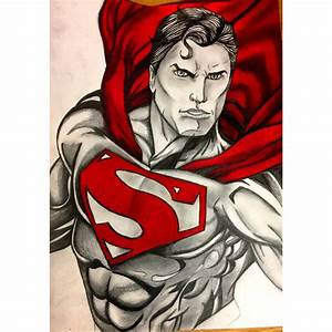 My drawing of superman. Medium: prisma colors and pencil ...