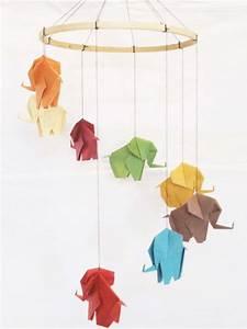 Mobile Basteln Origami : origami elefant mobile elephant mobile baby mobile von manucrafts zuk nftige projekte ~ Orissabook.com Haus und Dekorationen