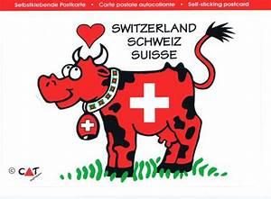 Postkarte In Die Schweiz : schweiz be kuh postkarten sticker ~ Yasmunasinghe.com Haus und Dekorationen