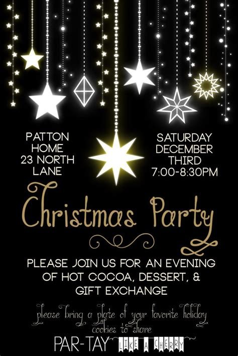 christmas party invitation christmas party