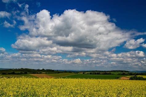 Blau/Weiß/Gelb Foto & Bild   landschaft, jahreszeiten ...