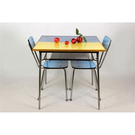 vintage kitchen table formica vintage blue and yellow formica kitchen table design market