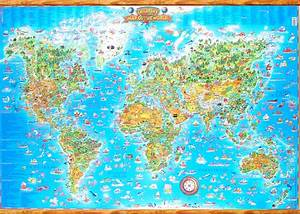 Map Of The World For Kids Printable Free