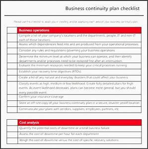 9 printable business continuity plan sampletemplatess With business continuity plan template australia