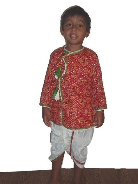 Bandhani Garba Dress For Boys Gujarati Dhoti Kurta For Kids