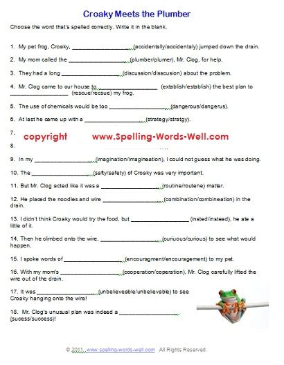 free printable spelling worksheets for the boys