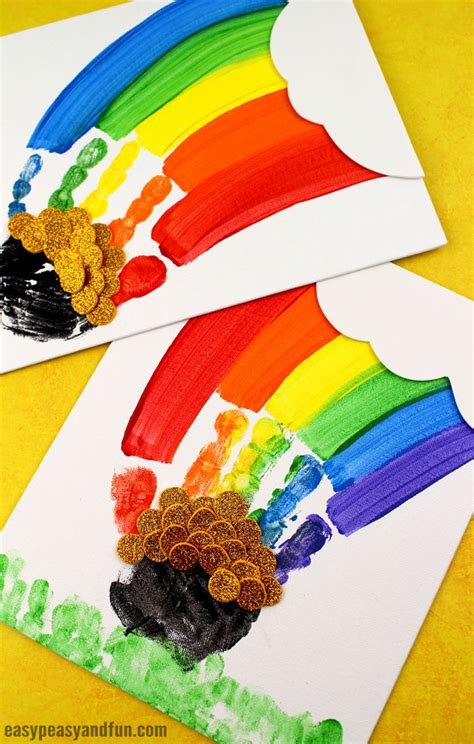 st s day handprint rainbow easy peasy and 420 | St. Patricks Day Handprint Rainbow Art for Kids