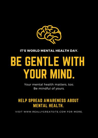 customize  mental health poster templates  canva