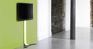 Accrocher Au Mur Sans Percer : fixer sa tv au mur mais sans percer batirenover ~ Premium-room.com Idées de Décoration