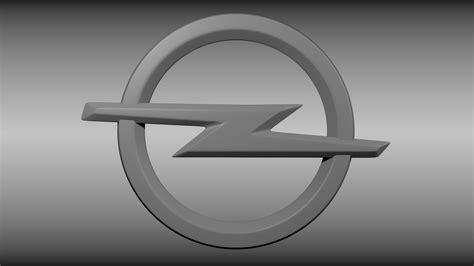 Logo 3d by Opel Logo 3d Model Cgtrader